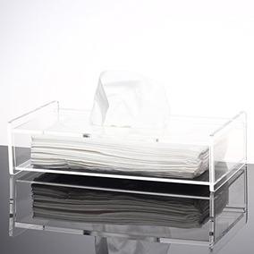 Creativa Tejido Transparente Caja Transparente Servilleta S