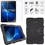 Funda Uso Rudo Galaxy Tab A6 10.1 Sm-p580 + Cristal Templado