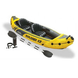 Kayak Inflable Explorer K2 2pers Remos +inflador+1chaleco
