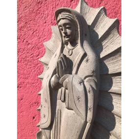 Virgen De Cantera Gris De 70 Cm Altura