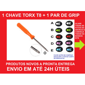 Kit Par Grips Caveira + Chave Torx T8 Ps4, Ps3, Xbox One 360