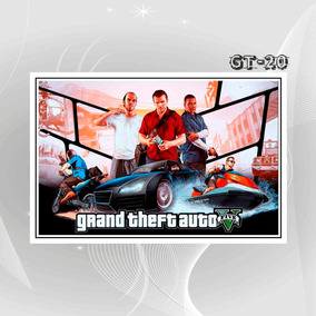 Poster Cartaz Game Filme Gta X6o 5 Decoracao Casa Sala Quart