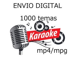 Video Karaoke 1000 Temas Envio Digital Mpg Y Mp4