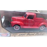Ford Pick Up 1940 Esc 1 18 Roja Die Cast Premium