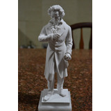 Escultura Ludwig Van Beethoven Marmore 27cm Made In Italy