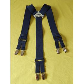 Tirador Pantalón Suspenders Doble Pinza Madison Azul Mar 4cm