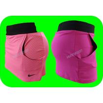 Short Con Falda Deportivo Lycra De Dama Mayoreo Dryfit Nike