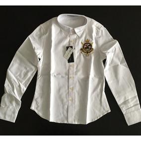 Fabulosa Camisa Blusa Dama Mujer Polo Ralph Lauren Blanca