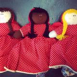 Bonecas De Pano Chapeuzinho Vermelho 3 Em 1