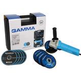Amoladora Angular Gamma G1910 Kar En Kit 750w 115mm 4-1/2 U