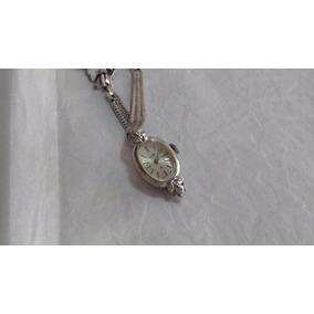 Reloj Elgin Dama Vintage Acero Con Brillantitos