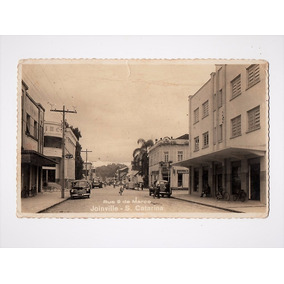 Cartao Foto Postal Rua 9 De Março Joinville Sc - Anos 40