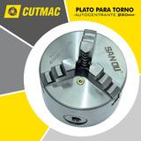 Plato Torno 80mm Tres Mordazas Autocentrante