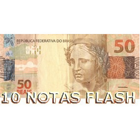 10 Burning Money - Notas Flash 50 Reais
