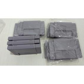 Case Carcaça De Cartucho Snes Super Nintendo (lote C/ 04)