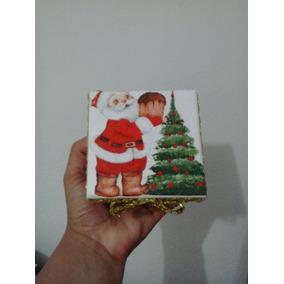 Mini Caixinha De Mdf Decorada Com Decoupage No Tema Natal