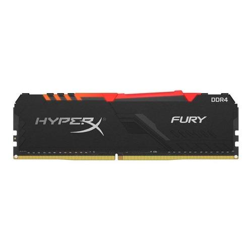 Memoria RAM Fury DDR4 RGB gamer color Negro  8GB 1 HyperX HX432C16FB3A/8