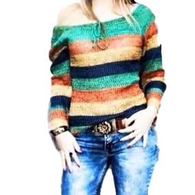 Blusa De Frio Croche Feminina Ciganinha Colorida