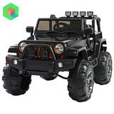 Camioneta Jeep A Bateria Para Niños - Blanco Y Negro