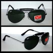 Óculos De Sol Modelo Caçador Lente Preto Couro