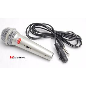 Microfone Com Fio Karaoke Profissional Pc Alta Sensibilidade