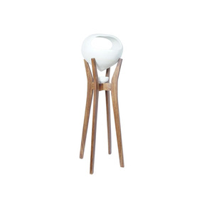 Eva Grande Pedestal De Ceramica - Blanco