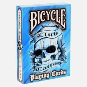 Cartas De Magia Y Poker Bicycle Club Tattoo Azul Original