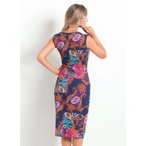 Vestido Moda Gospel Evangelica Elegante Floral 2017