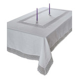 Mantel De Encaje De Macrame, Violeta, Lino, Tesoro, 70 \x 1