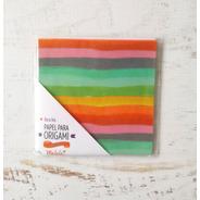 Arco Iris - Papel Para Origami 10x 10 Cm