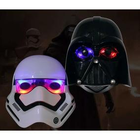 2 Máscaras Star Wars, Stormtrooper, Darth Vader, Luz De Led