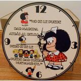 Reloj De Pared De Madera Mafalda Regalo Original Precioso!