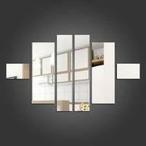 Kit Espelhos Decorativos Retângulos Ps(acrílico)frete Grátis