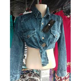 Blusa Jaqueta Croped Jeans Promoção