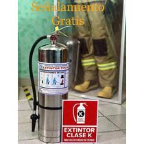 Extintor Tipo K 6 Lts (especial P/cocinas) Señal Gratis!