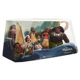 Kit 5 Miniaturas Bonecos Disney Moana Deusa Maui Hei Sunny