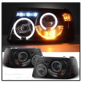 Opticas Smoke Con Ojos De Angel Para Ford Ranger 2001 A 2011