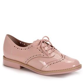 Sapato Oxford Conforto Feminino Beira Rio - Rosa