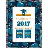 Invitación De Egresados Graduación Primaria Secundaria Azul