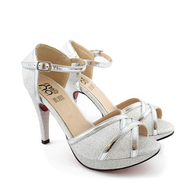 Zapatillas De Noche Color Plata Gonsa 10458 Mona Shoes