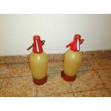 2 Sifones De Soda De Plástico, Antiguos - Inflex