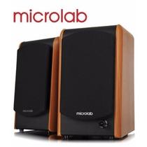 Microlab Caixa De Som Speaker 2.0 48w Rms B77 Madeira Retira