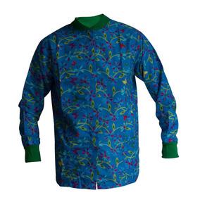 Bata Cuello Mao (primavera Azul)