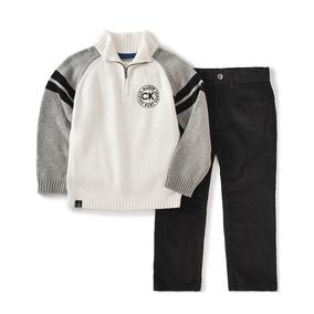 Calvin Klein Conjunto Sueter Pantalón Mezclilla Bebé Baby