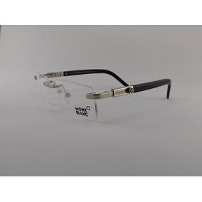 Armação Oculos Grau Mont Blanc Mb195 Sem Aro Dourado Classic ... 1a00ee898d