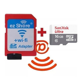 Kit Microsd 16gb Sd Wi-fi Ez-share Sim Toshiba Flashair 80mb