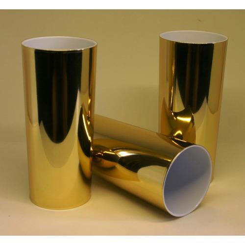 Copo Long Drink Metalizado Dourado 100 Unidades