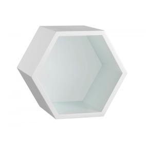 Nicho Hexagonal Mdf Favo Maxima Branco Dj por Madeira Madeira fa8e8fe821