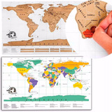 Poster Rascable Mapa Mundi Scratch Ideal Para Viajeros H4088