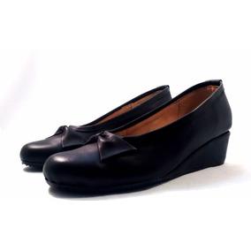 Sam123 Zapatos Taco Chino De Cuero Talles Grandes Moño